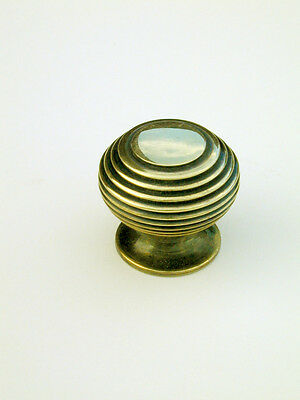 Small Antique Solid Brass Beehive Cabinet / Cupboard Door Knob / Handle Warwick