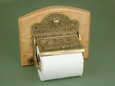 Antique Solid Brass Bury Street London Toilet Roll Holder | Warwick Reclamation