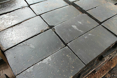Reclaimed 10×5 Inch Staffordshire Blue Clay Pavers / Pavoirs / Stable Blocks