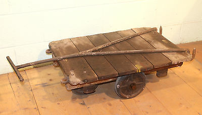 Reclaimed Original Antique Victorian Slingsby Trucks Trolley / Coffee Table