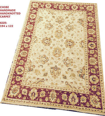 EXCLSUIVE RARE CHOBI VEGE DYED HAND KNOTTED RUG CARPET 183x124cm