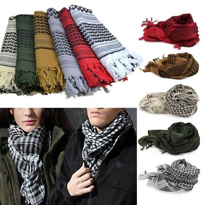 Military Shemagh Arab Tactical Desert Shemagh Keffiyeh Scarf Shawl Wrap Fast Pin