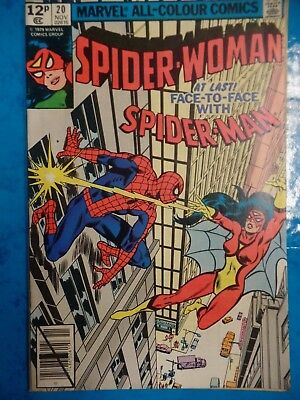 Spider-Woman face to face with Spider-Man #20 November 1979 Bagged Marvel Comic