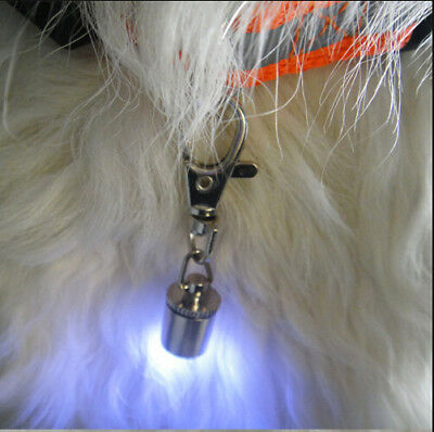 LED High Visibility Safety Pet Dog Collar Flasher Clip Safety Dark Night Blinker