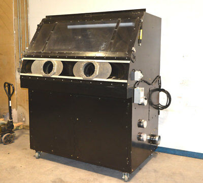 "Dry-Ice Blaster 1-Hp Suction-Type Filtered Exhaust Cabinet - Custom  76""x49""x90"""