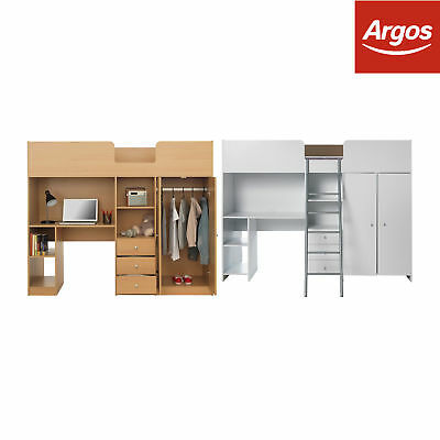HOME Ohio High Sleeper Bed Frame - Choice of Size and Colour - Argos