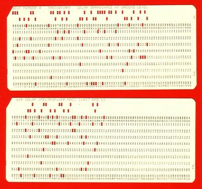1960Lot 2 Ibm Computer Lochkarten Punched Cards Data Processing Spaceflight Nasa