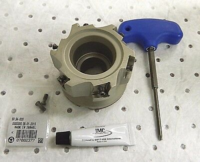 """Iscar Indexable Square Shoulder Face Mill 3"""" Cutting Diam x 0.551 Max 3111788"""