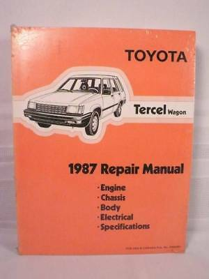 NEW! 1987 TOYOTA TERCEL WAGON Shop Service REPAIR MANUAL Plastic Wrapped