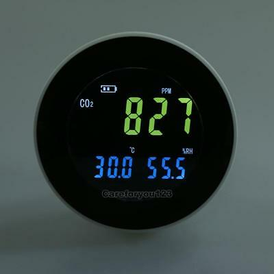 Carbon Dioxide CO2 Gas Detector Data Air Temperature Humidity Meter Monitor USB