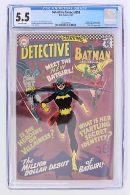Detective Comics #359 - CGC 5.5 - 1st App of Batgirl - Barbra Gordon! Batman