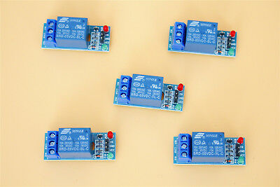 5V 1 Channel Relay Board Module Optocoupler LED for Arduino PiC ARM AVR 5Pcs