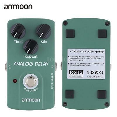 ammoon Analog Delay Electric Guitar Effect Pedal True Bypass Green New T2O5