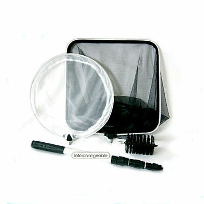 Pond Cleaning Kit 4 in 1 Pond Care Catch Skimmer Nets Cleaning Brush Extend Pole