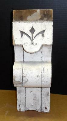 Vtg Shabby Chic Wood Corbel Bracket Architectural Salvage White Corbel Truss #2