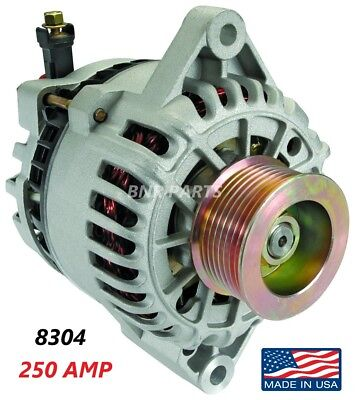250 Amp 8304 Alternator Ford Mustang Cobra  w/ S/C  2003 2004 High Output HD NEW