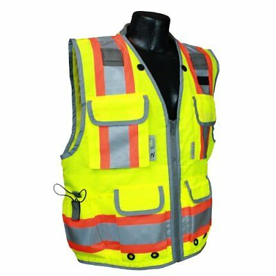 Radians SV55-2ZGD-M Class 2 Heavy Woven Two Tone Engineer Safety Vest, Hi Viz