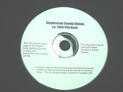 CD ~ ca.1960 Stephenson County Illinois Plat Map Book