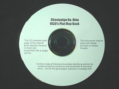 CD ~ 1930's Champaign County Ohio Plat Map Book