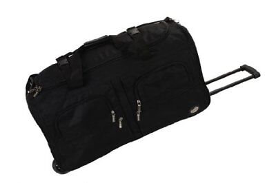 Rockland Luggage 36 Inch Rolling Duffle Bag, Black, Large New