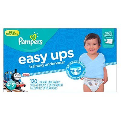 Pampers Easy Ups Disposable Training Underwear Boys 4T-5T (Size 6), 120 Count