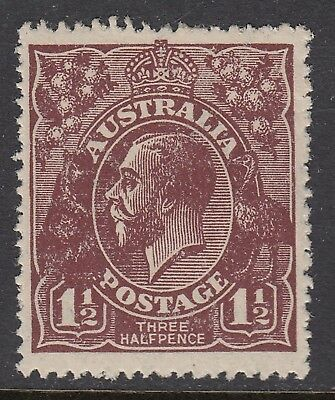 1920 1½d CHOCOLATE KGV, Large Multiple Watermark, Mint Hinged