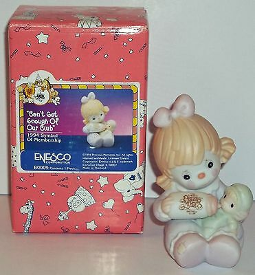 Precious Moments Can't Get Enough Of Our Club Item # B0009 1994 Membership Fig.