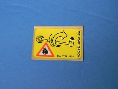 Instruction Label Sticker Decal For Stihl Chainsaw  # 0000 967 3692