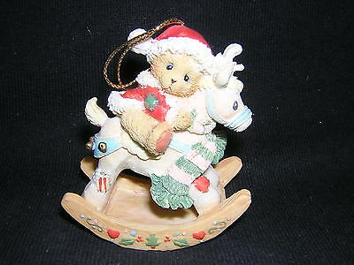 CHERISHED TEDDIES BEAR ON ROCKING REINDEER Ornament NEW!!! CHRISTMAS