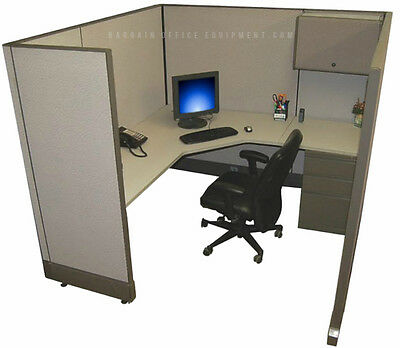 "6x6 x67"" H Refurbished Herman Miller Cubicle Work Stations - NEW Paint / Fabric"