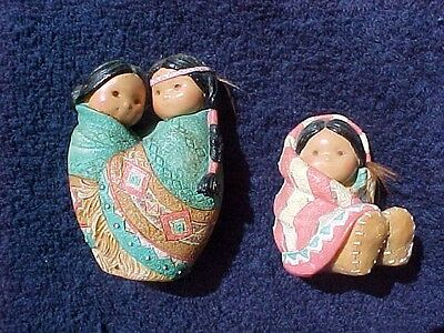 2 Friends of a Feather figurines Wrapped in Love for Many Moons #115649 #115703