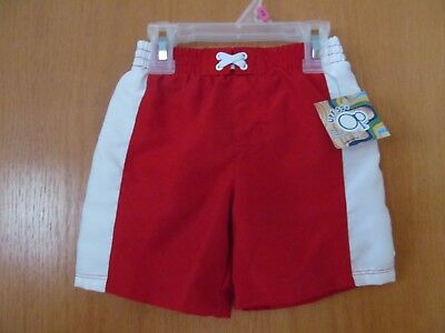 Boy's Brilliant RED Swim Trunks~Infant/Toddler Size 18 Months~ NEW w/tags