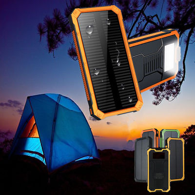 300000MAH Waterproof Solar External Power Bank For Mobile Phones with Cable CN