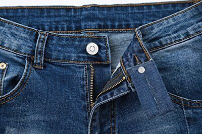 Denim Jean Waist Extender Set of 3 Colors for Men and Women with Gold Star Metal