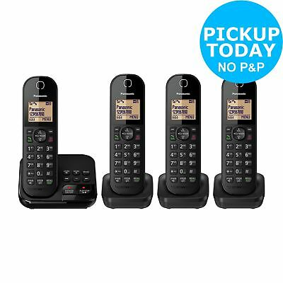Panasonic KX-TGC424EB Cordless Telephone with Answer Machine - Quad - Argos eBay