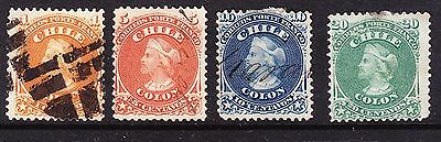 Chile 1867 Columbus Issues  Fine Used