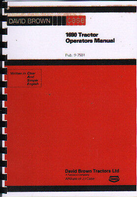 "1979 David Brown Case ""1690"" Tractor Operators Instruction Manual"