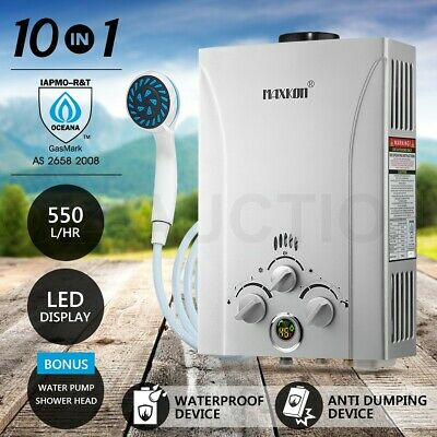 MAXKON Gas Hot Water Heater Portable LPG Caravan Outdoor Instant Shower 4WD