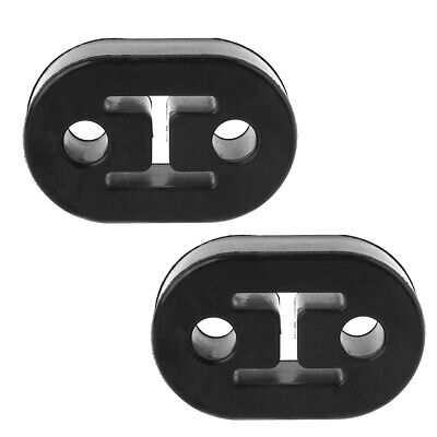 2Pcs Heavy Duty 2 Holes Exhaust Hanger Bushing Support Bracket Rubber Mount