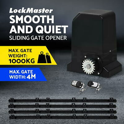 1000KG Sliding Gate Opener Automatic Electric Powered Motor Remote Control 4M