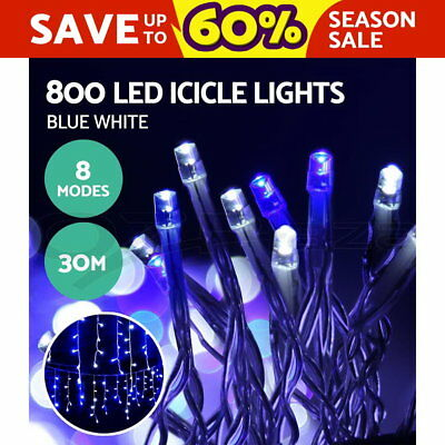 800 LED Icicle Lights Outdoor Fairy String Festival Party Wedding Lighting Xmas