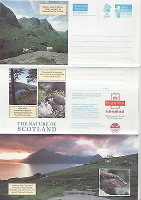 GB Stamps Aerogram / Air Letter APS90 - 1st NVI Nature of Scotland Issue 1992