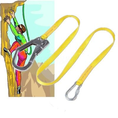 22KN Rock Climbing Harness Safety Recuse Belt Carabiner Rope Lanyard Tree