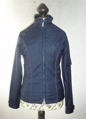 Equi-Theme Childs Riding Waterproof Jacket In Navy Age 10yrs and 14yrs