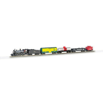 Bachmann Trains N Scale Trailblazer Electric Model Locomotive Train Set w/ Track