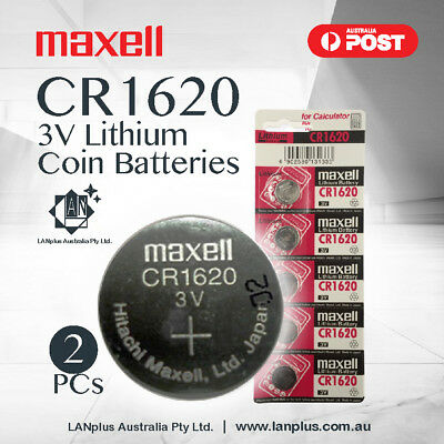 Maxell 2 x CR1620 3V 1620 Lithium Button Coin Battery STOCK IN Melbourne