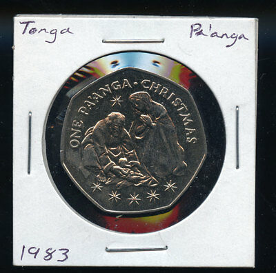 1983 Tonga One Pa'anga Christmas Xmas Keepsake BU Coin B765