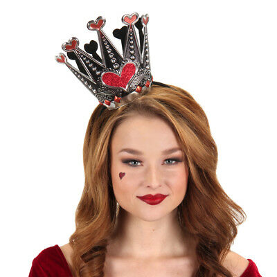 Queen of Hearts Sparkle Crown Accessory