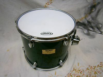 """MAPEX drums 14"""" x 12"""" tom green laquered wood grain."""