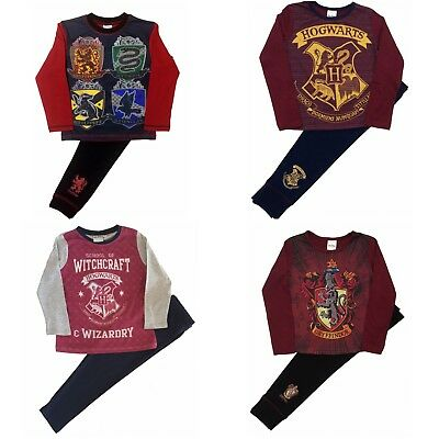 Kids Boys Girls Harry Potter Hogwarts Gryffindor Pyjamas Pjs Sleepwear